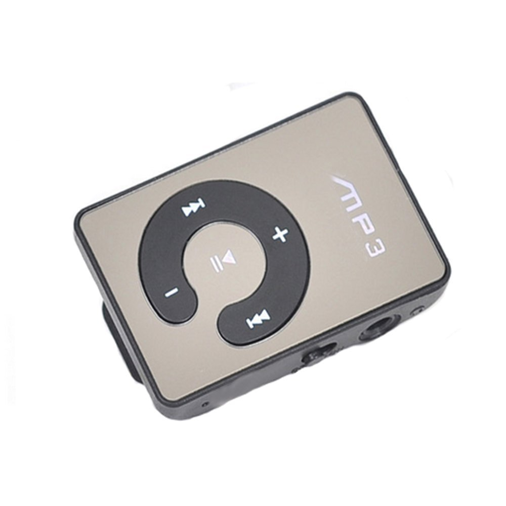 Lonve Mini Clip USB MP3 Music Player Media With Micro TF/SD Card Slot Black