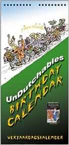 The Undutchables Birthday Calendar Verjaardagskalender