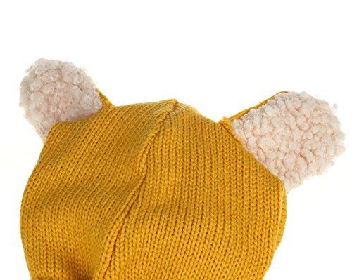 TAORE Baby Girls Boys Winter Hat Scarf Earflap Hood Scarves Skull Caps (Yellow)