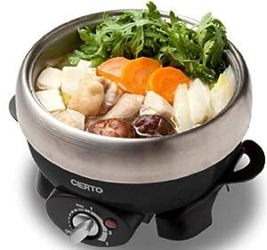 CIERTO シェルト ミニグリル鍋 <煮る・焼く・蒸すの1台3役> 1L シャンパンブラック DSMG-650(K)