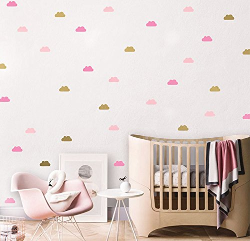 Nursery Wall Decals - Happy clouds - Standard Size