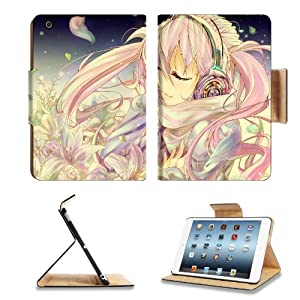 Vocaloid Hatsune Miku Pink Long Straight Hair Virtual Miku Girl With Player Anime Comic Game ACG Apple Ipad Mini Flip Case Stand Smart Magnetic Cover Open Ports Customized Made to Order Support Ready Premium Deluxe Pu Leather 13 1/16 Inch (333mm) X 8 Inch (205mm) X 11/16 Inch (17mm) Woocoo Ipad Mini Professional Ipadmini Cases Ipad_mini Accessories Retina Display Graphic Background Covers Designed Model Folio Sleeve HD Template Designed Wallpaper Photo Jacket Wifi 16gb 32gb 64gb Luxury Protector