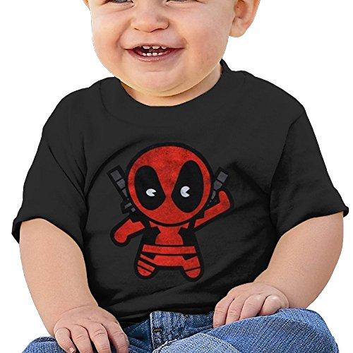 Bro-Custom Cute Blackguard Hero Image Children Short Sleeve T Shirt Black Size 12 Months