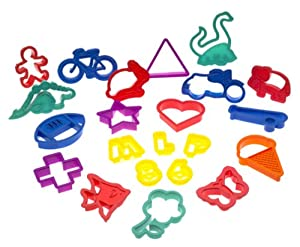 Roshco 100-Piece Plastic Cookie Cutter Set