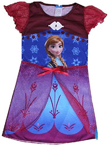 Snow Queen Dress / Play Clothes Red Anna - New Size 6-8