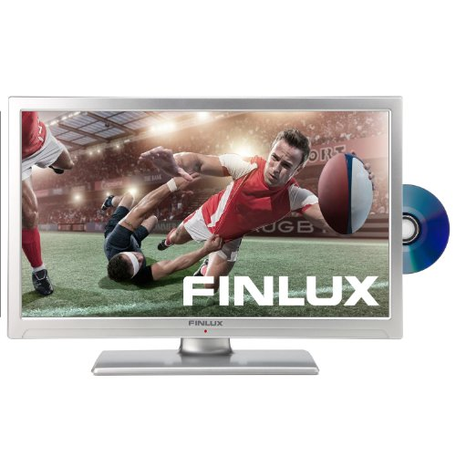 Image of Finlux 22F6050S-D 22-inch Full HD 1080p LED Multi-Region TV/DVD Combi with Freeview and PVR - Silver (New for 2013)