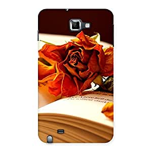 Rose Book Back Case Cover for Galaxy Note