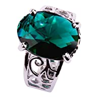 Yazilind Women's Ring with 12*16mm 16…