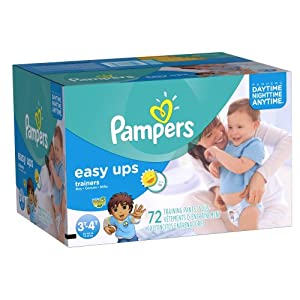 Pampers Easy Ups Boys  Super Pack, 72 Count , Size 5 (3T - 4T)