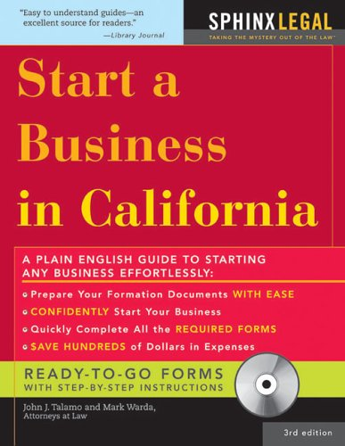 Start a Business in California with CD, 3E (Legal Survival Guides)