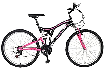 Reflex Vogue Full Suspension Bike - Black/Pink, Size 26