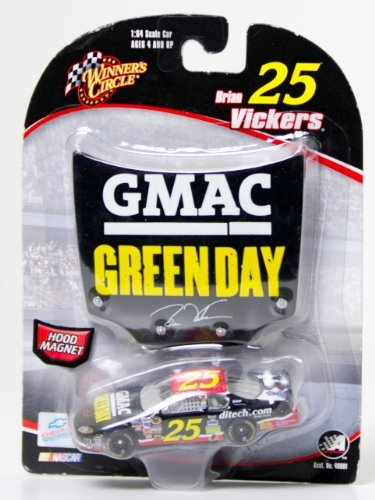 brian-vickers-25-green-day-gmac-monte-carlo-1-64-scale-bonus-magnet-1-24-scale-hood-winners-circle-b