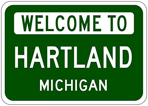 Hartland, Michigan City Sign