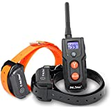 Petrainer 330 Yards Remote Training E-collar PET916 Rechargeable and Fully Waterproof Dog Training Collar for 2 dogs with Safe Beep, Vibration and Shock Electronic Electric Collar for Medium or Large Dogs Trainer (IS-PET916)