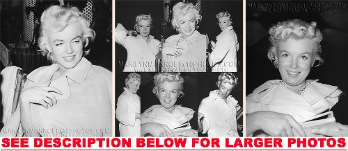 MARILYN MONROE WITH OUT MAKEUP (3) RARE 8x10 FINE ART PHOTOS