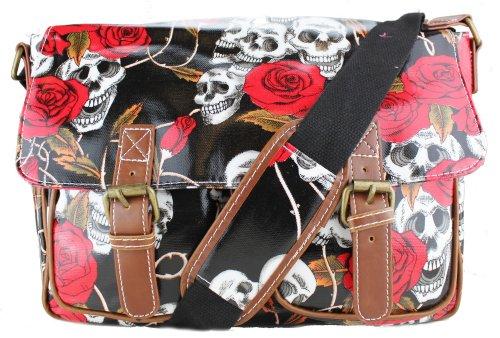 Miss Lulu,  Skull & Rose Black Medium