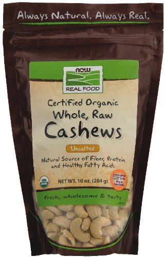 Отзывы Now Foods Whole Raw Certified Organic Cashews