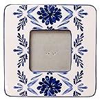 3x3 Ceramic Blue Floral Photo Frame