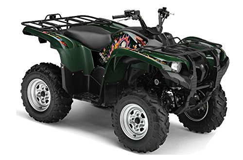 Skulls and Butterflies Pink Purple AMRRACING Polaris Outlaw 90 All Years Full Custom ATV Graphics Decal Kit