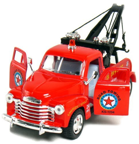 "1953 5"" Red Chevy 3100 Tow Truck 1:38 Scale (Kinsmart)"