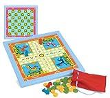 JeuJura - Set de 2 juegos de mesa de madera para ni�os (ludo y damas)