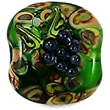 Lampwork Glass Bead Wine Country Grape Squeezed