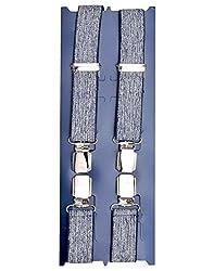 TieKart Blue Patterns Men's Belts-Suspenders