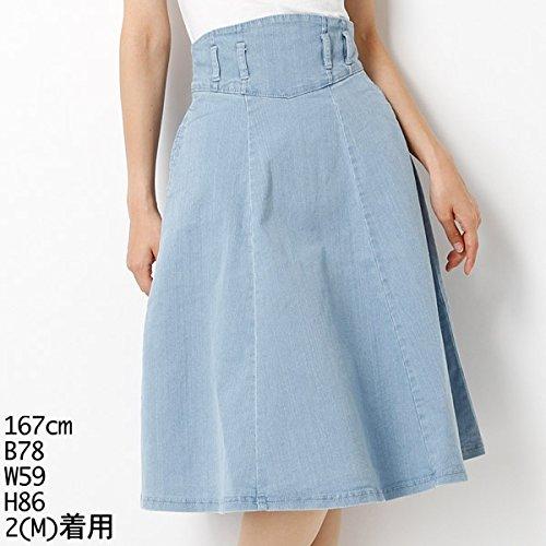ムルーア(MURUA) スカート(コルセット切替デニムフレアSK)【M51アイスブルー/S】