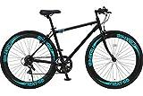 Nextyle(ネクスタイル) 700Cクロスバイク アルミフレーム シマノ7段変速 ディープリム 前輪クリックリリースNEXTYLE CNX-7006 ブラック・グリーン 21271