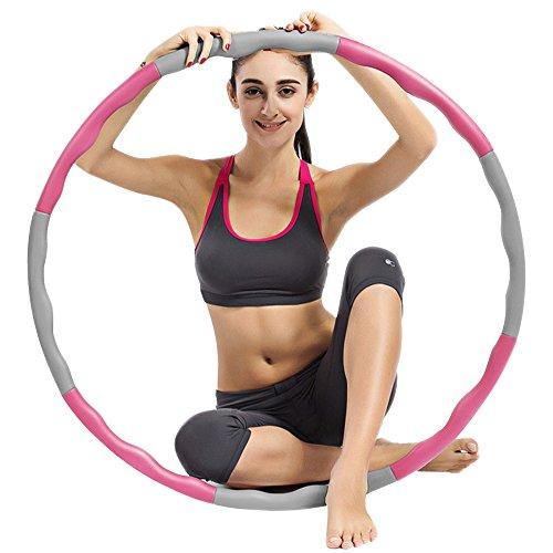 ubegood-hula-hoop-adjustable-weighted-fitness-hoop-fitness-exercise-hula-hoop-level-1-foam-padded-we