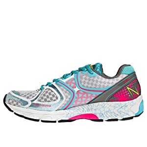 New Balance Women's W1260v3 Running Shoe,White/Blue,11.5 D US