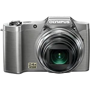 Olympus SZ-12 14MP Digital Camera with 24x Wide-Angle Zoom (Silver) (Old Model)