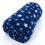ふわふわ あったか フリース ブランケット 星 (140×100cm)[ひざ掛け/毛布/雑貨]