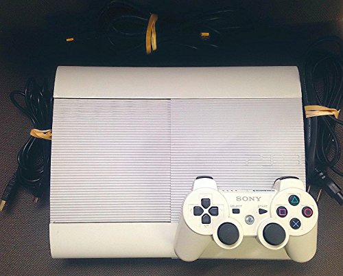 Sony PlayStation 3 PS3 Slim CECH-4012 500GB Console - White (Super Slim Ps3 White compare prices)
