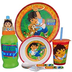 Go Diego Go 6 Piece Dinnerware Set