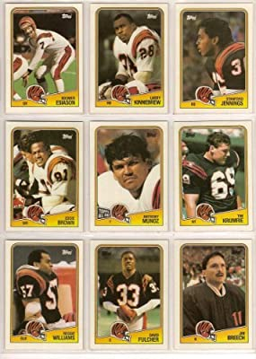 Cincinnati Bengals 1988 Topps Football Team Set (Super Bowl) (Boomer Esiason) (Eddie Brown) (Anthony Munoz) (TIm Krumrie)
