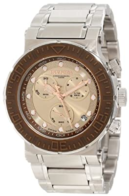 Invicta Men's 10933 Ocean Reef Reserve Chronograph Copper Dial Stainless Steel Watch