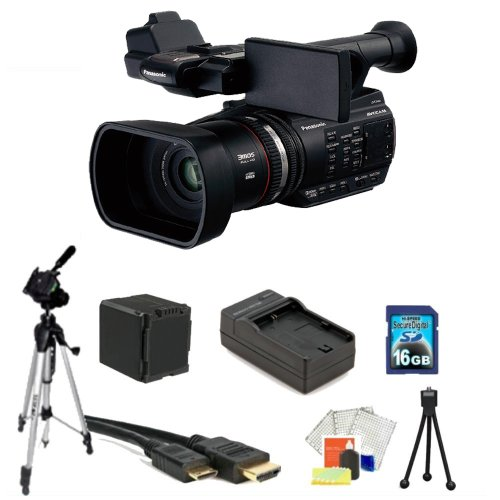 Panasonic AG-AC90 AVCCAM Handheld Camcorder Kit Package Includes: Panasonic AC7 Camcorder, 16GB Memory Card, Memory Card Reader, Extended Life Replacement Battery, Rapid Travel Charger, HDMI Cable, 72