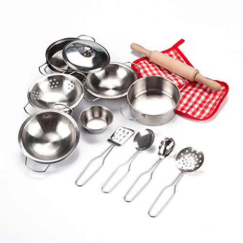 Kitchen Set Pots And Pans: NEW Kids Pretend Kitchen Set Pots And Pans Play Cooking