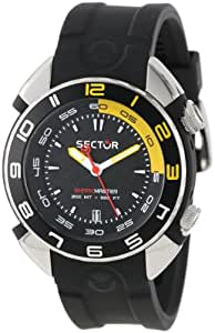 Sector Men's Watch R3251178125 In Collection Shark Master, 3 H and S with 44mm Black Dial and Black Strap