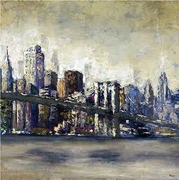 26W x 26H City Landmark I by Bridges - Stretched Canvas w/ BRUSHSTROKES