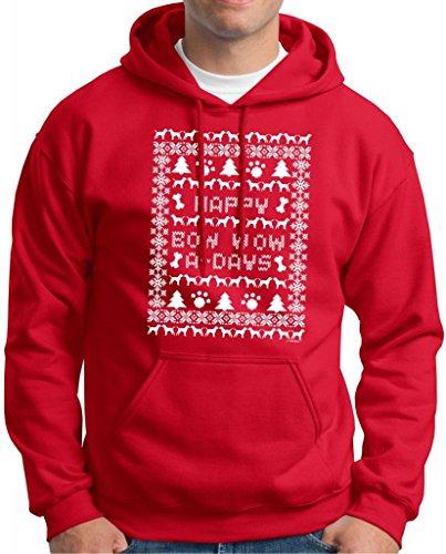 Ugly Christmas Sweater Labrador Retriever Premium Hoodie Sweatshirt Medium Deep Red