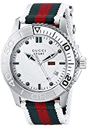 Gucci Men's YA126231 G-Timeless Dive Stainless Steel Watch with Nylon Strap