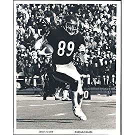James Scott Chicago Bears Vintage 8x10 Photo Vintage