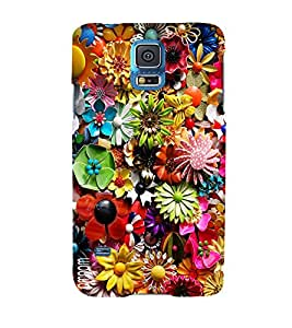 Omnam Flower Printed Pattern Designer Back Cover Case For Samsung Galaxy S5
