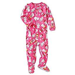 Carter\'s Girls 1-piece Micro-fleece Pajamas (2T, Snowmen)