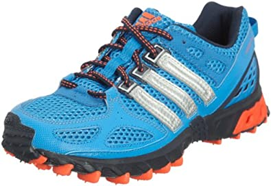 ADIDAS Kanadia 4 Men's Trail Running Shoes, Blue/Red, UK8
