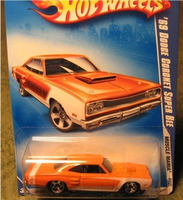 Hot Wheels 2010 '69 Dodge Coronet Super Bee Muscle Mania 7/10 ORANGE #83 - 1
