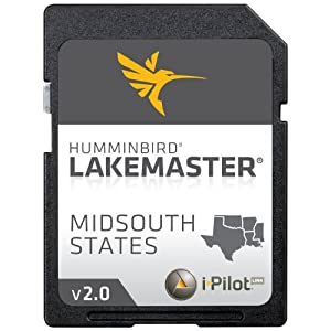 Lakemaster Electronic Chart Midsouth States Contour Map SD Card, Blue by LAKEMASTER