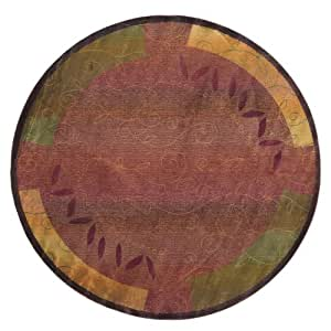 "Amazon.com - Kharma Collection Woven Rug (#439R4) 8'0"" X 8'0"" Round"